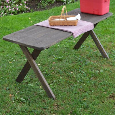 Rosendale Pine Cross-leg Picnic Table Finish: Walnut Stain