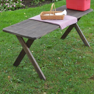 Troupsburg Pine Cross-leg Picnic Table Finish: Walnut Stain