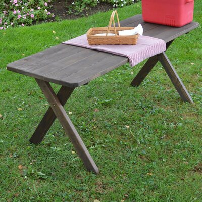 Stuyvesant Pine Cross-leg Picnic Table Finish: Walnut Stain