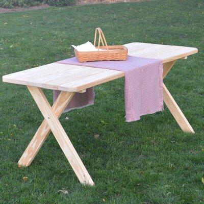 Stuyvesant Pine Cross-leg Picnic Table Finish: Unfinished