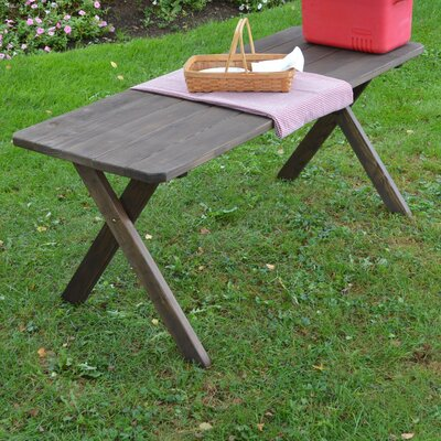 Sangerfield Pine Cross-leg Picnic Table Finish: Walnut Stain