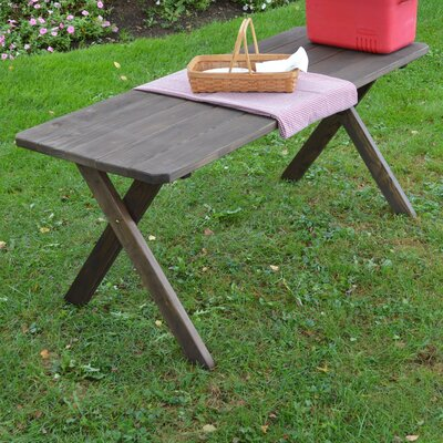 Unadilla Pine Cross-leg Picnic Table Finish: Walnut Stain