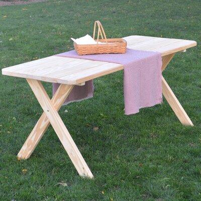 Unadilla Pine Cross-leg Picnic Table Finish: Unfinished