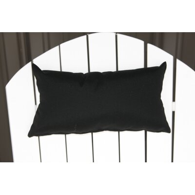 Lamothe Rectangular Adirondack Chair Outdoor Lumbar Pillow Color: Black