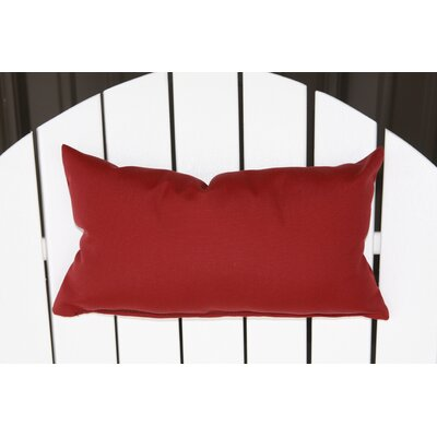 Lamothe Rectangular Adirondack Chair Outdoor Lumbar Pillow Color: Burgundy