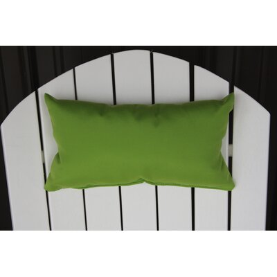 Lamothe Rectangular Adirondack Chair Outdoor Lumbar Pillow Color: Lime Green