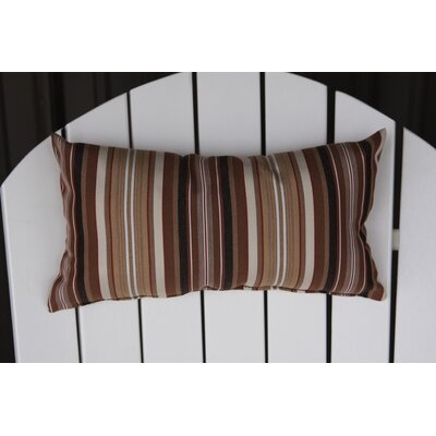 Hyeon Outdoor Lumbar Pillow Color: Maroon