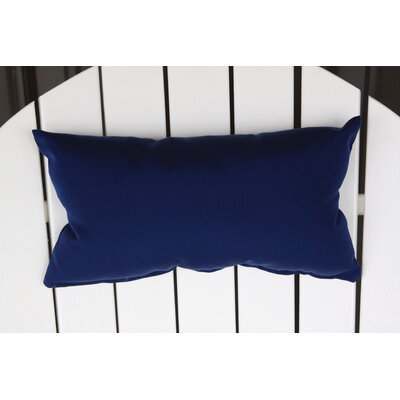 Lamothe Rectangular Adirondack Chair Outdoor Lumbar Pillow Color: Navy Blue