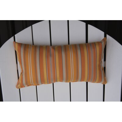 Adirondack Chair Outdoor Lumbar Pillow Color: Orange