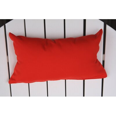 Lamothe Rectangular Adirondack Chair Outdoor Lumbar Pillow Color: Red