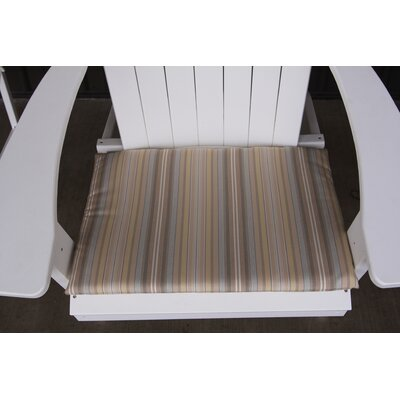 Striped Outdoor Adirondack Chair Cushion Color: Beige