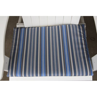 Striped Outdoor Adirondack Chair Cushion Color: Blue