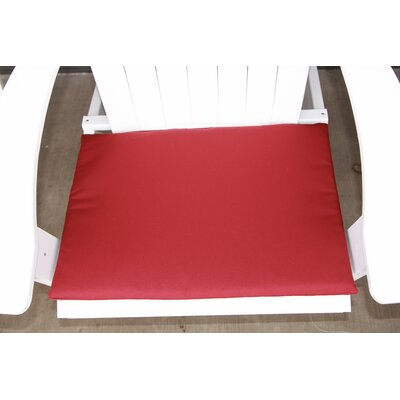 Outdoor Adirondack Chair Cushion Color: Burgundy