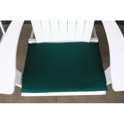 Outdoor Adirondack Chair Cushion Color: Forect Green