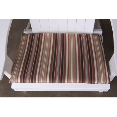 Striped Outdoor Adirondack Chair Cushion Color: Maroon