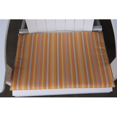 Striped Outdoor Adirondack Chair Cushion Color: Orange