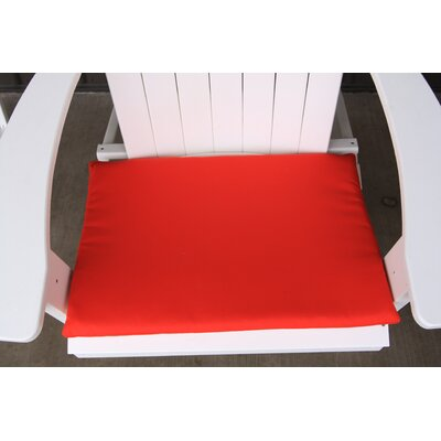 Outdoor Adirondack Chair Cushion Color: Red