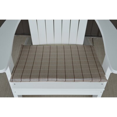 Striped Fabric Outdoor Adirondack Chair Cushion Color: Tan