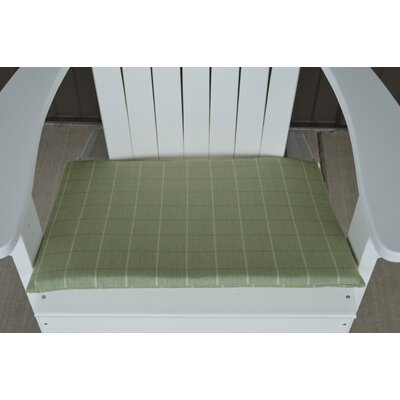 Striped Fabric Outdoor Adirondack Chair Cushion Color: Green
