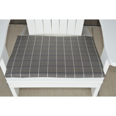Striped Fabric Outdoor Adirondack Chair Cushion Color: Gray