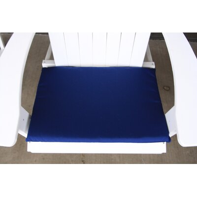 Outdoor Adirondack Chair Cushion Color: Navy Blue
