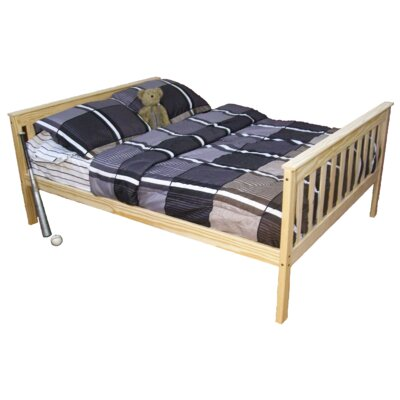 Mission Bed Size: Twin Mission Bed, Bed Frame Color: Unfinished