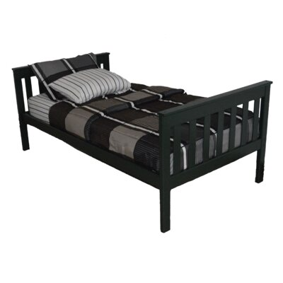 Mission Bed Size: Twin Mission Bed, Bed Frame Color: Dark Green