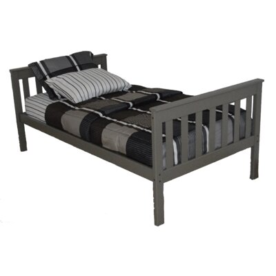 Mission Bed Size: Twin Mission Bed, Bed Frame Color: Olive Gray