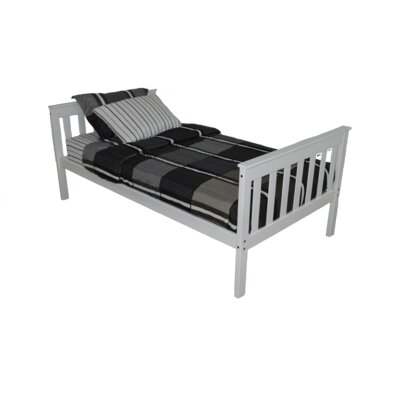 Mission Bed Size: Twin Mission Bed, Bed Frame Color: White