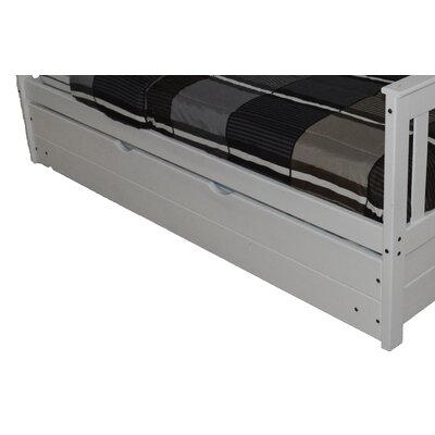 Trundle Unit  Size: Full Trundle Bed, Color: White