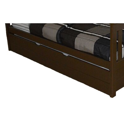 Trundle Unit  Color: Coffee, Size: Twin Trundle Bed
