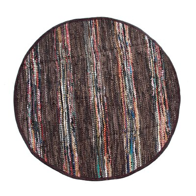 Recio Hand-Woven Brown Area Rug Rug Size: Round 411