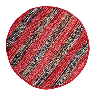 Broadway Handmade Red Area Rug Rug Size: Round 411