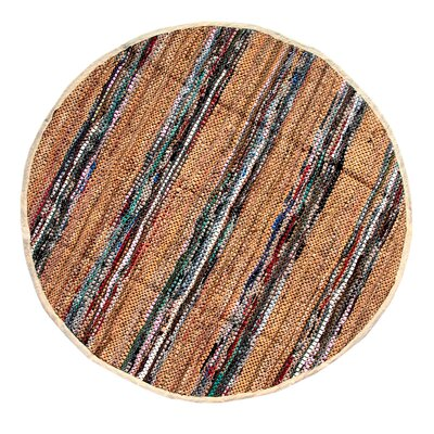 Broadway Handmade Tan Area Rug Rug Size: Round 411