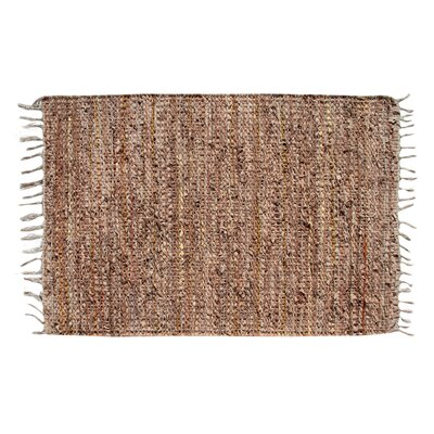 Recio Hand-Woven Tan Area Rug Rug Size: Rectangle 2 x 3