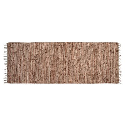 Recio Hand-Woven Tan Area Rug Rug Size: Runner 20 x 60