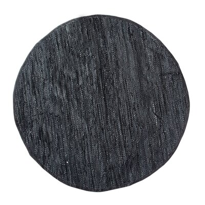 Recio Hand-Woven Black Area Rug Rug Size: Rectangle 5 x 8