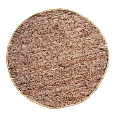 Recio Hand-Woven Tan Area Rug Rug Size: Round 411
