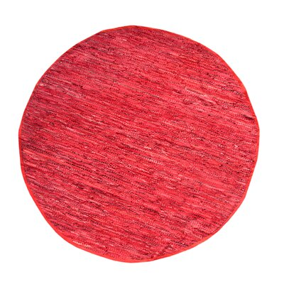 Rodeo Handmade Red Area Rug Rug Size: Round 411