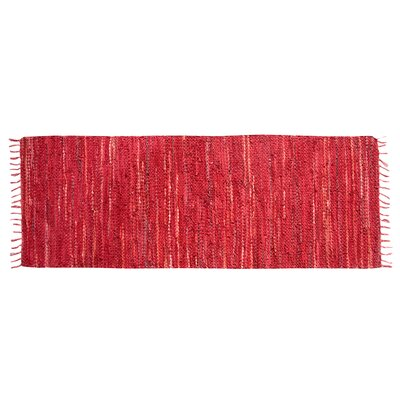 Recio Hand-Woven Red Area Rug Rug Size: Runner 20 x 60