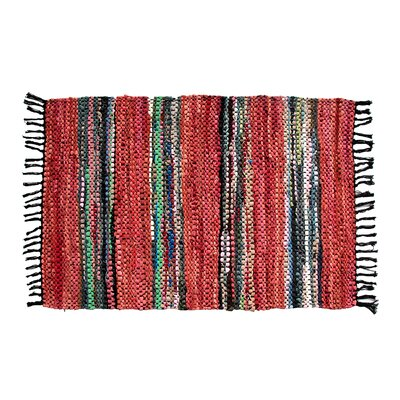 Broadway Hand-Woven Red Area Rug