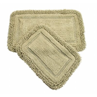 West Lake 2 Piece Bath Rug Color: Green