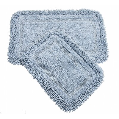 Westlake 2 Piece Bath Rug Set Color: Blue