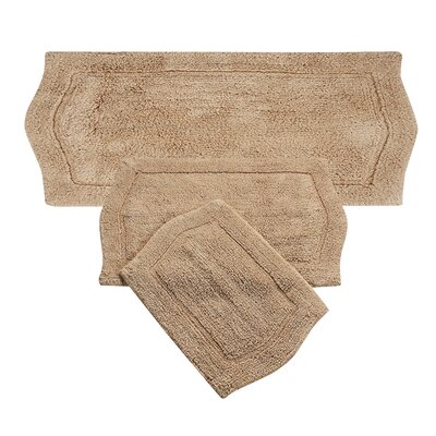 Waterford 3 Piece Bath Rug Set Color: Linen