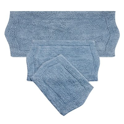 Shera 3 Piece Bath Rug Set Color: Blue