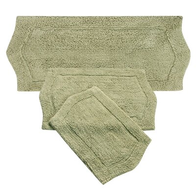 Shera 3 Piece Bath Rug Set Color: Green