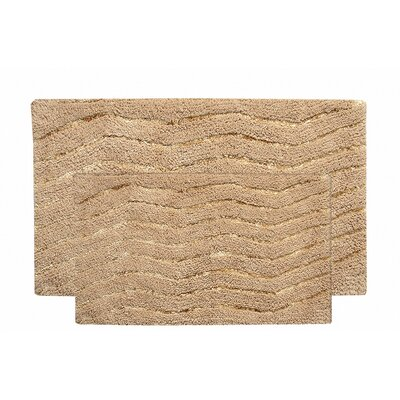 Artesia 2 Piece Bath Rug Set Color: Beige