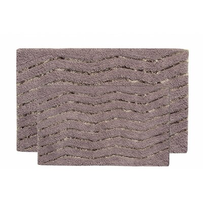 Artesia 2 Piece Bath Rug Set Color: Gray