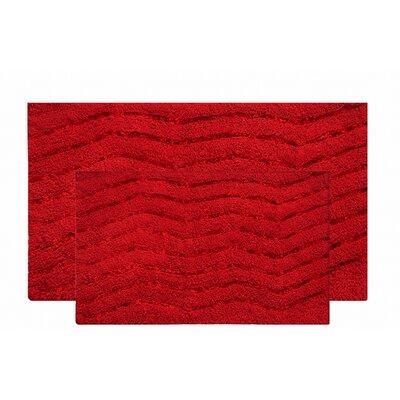 Artesia 2 Piece Bath Rug Set Color: Red