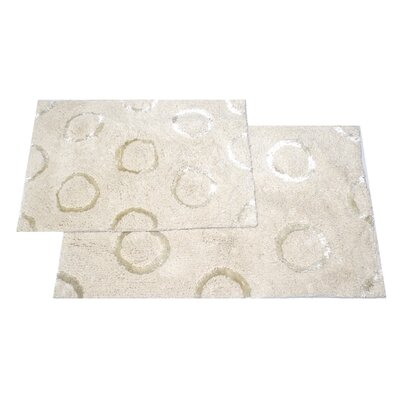 Delano 2 Piece Bath Rug Set Color: White